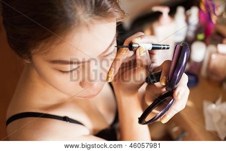 Close Up Woman In Makeup