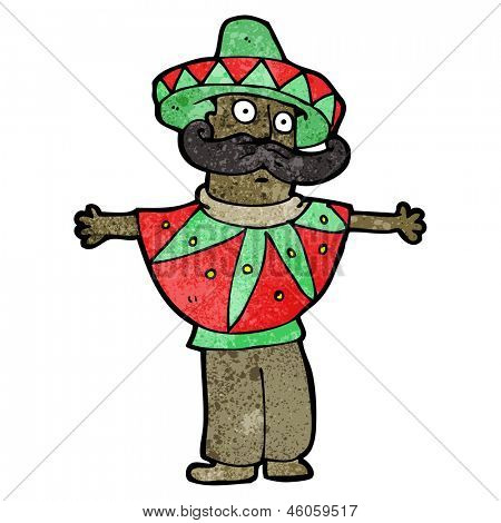 cartoon mexican man