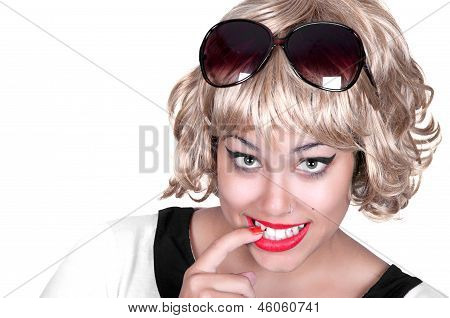 Attractive Smiling Woman Blond