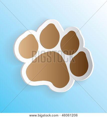 Dog Paw Print 3D Sticker