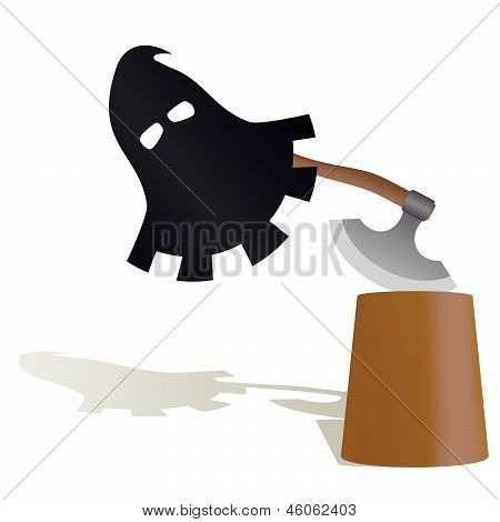 The mask and the executioner's ax