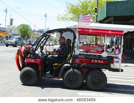 FDNY EMS Rescue vehicle  in Brooklyn, NY