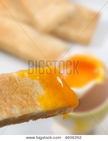 Toasted Bread With Egg Yolk