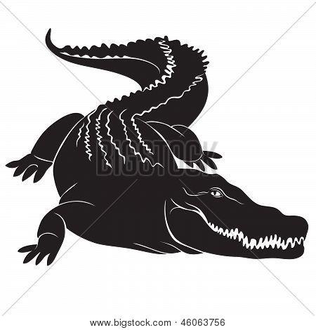 Big crocodile sign. vector image