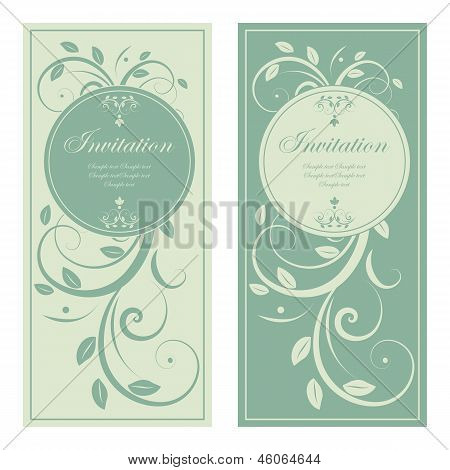 vector design of wedding invitation