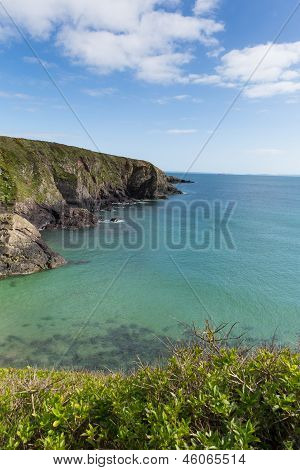 Caerfai Bay St Brides Wales UK
