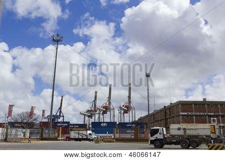 Activity In The Seaport Of Montevideo, Uruguay.