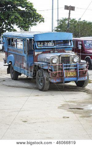 Angeles Jeepney Passenger Vehicle Philippines