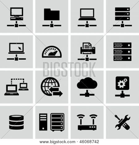 Internet, servidor, red iconos