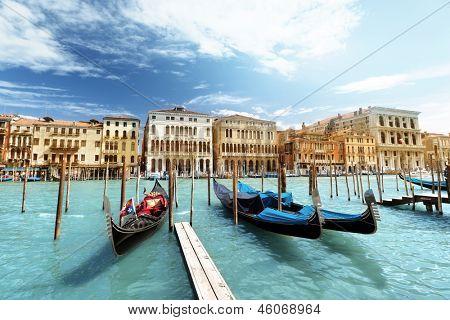 Góndolas en Venecia, Italia