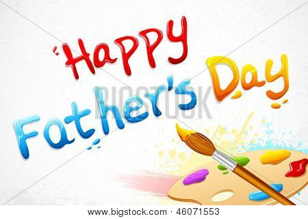 illustration of Happy Father's Day written with paint brush