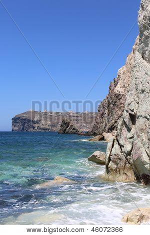 Santorini (Thira), Greece. White Beach