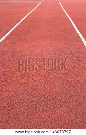 Perspective Of Running Track