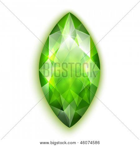 Marquise cut emerald  - raster version