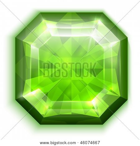 Asscher-cut emerald  - raster version