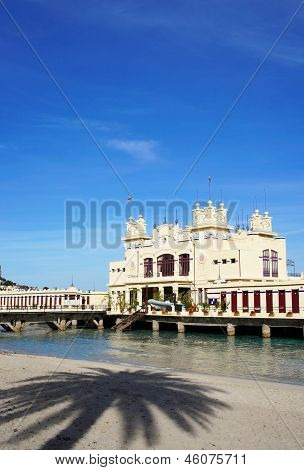 Liberty Building On The Sea At Mondello Beach Of Palermo In Sicily