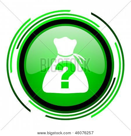 riddle green circle glossy icon