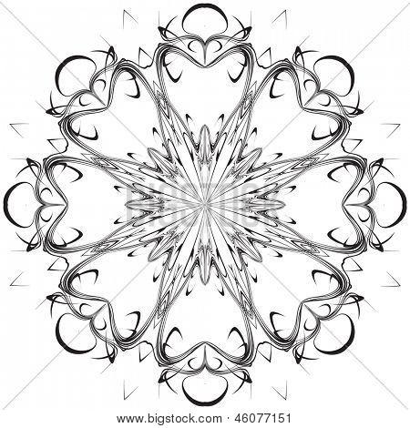 Beautiful lace pattern. The circular background.