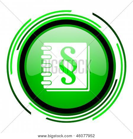law green circle glossy icon