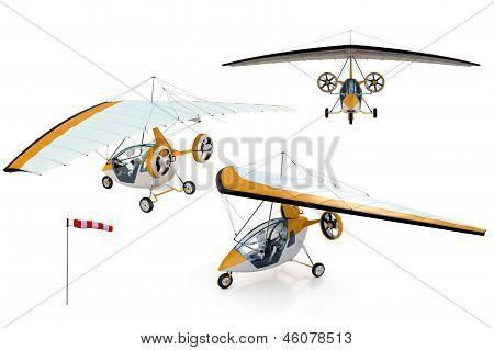 机器人在超轻型飞机的复合材料