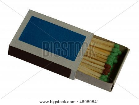 A Box Of Matches On The White