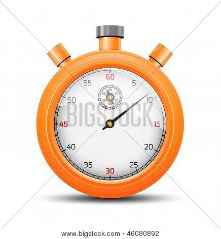 The vibrant orange stopwatch