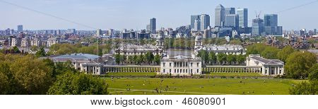 London Docklands Panoramic From Greenwich Park