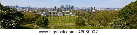 London Panoramic From Greenwich Park