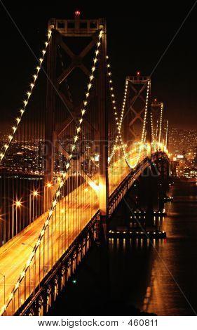 Bay Bridge By Night