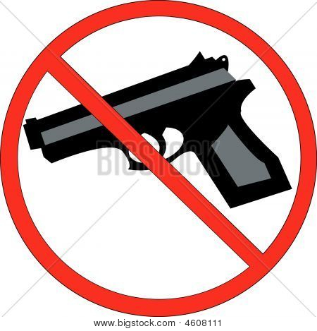 Hand Gun With No Symbol.