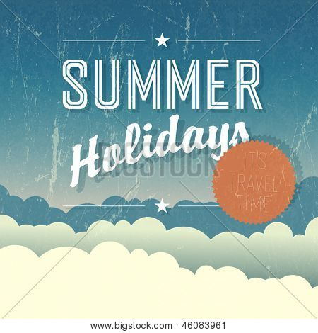 Summer Holidays Poster. Vector