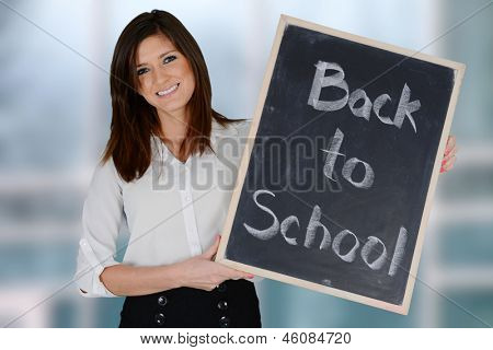 Teacher getting ready for the school year