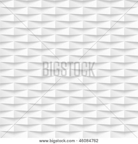 Textura sem costura branca com sombra. Textura de fundo limpo simples. 3D Vector p de painel de parede interior
