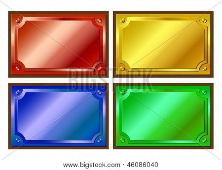 Colored Metallic Plaques