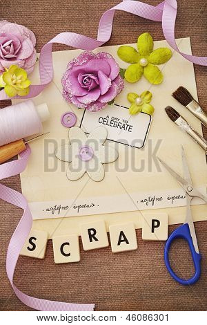 making of scrapbook greeting card