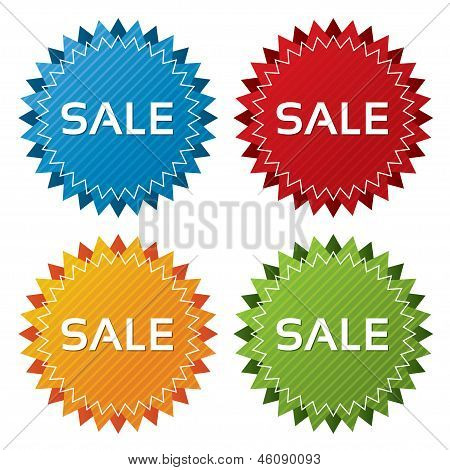 Colorful sale tags collection. Icons set (vector).