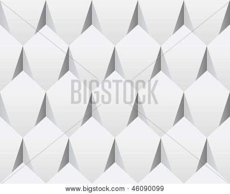 White 3d abstract seamless texture (vector)