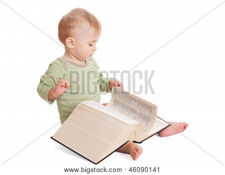 Baby With A Big Book