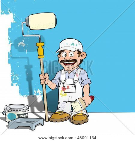 Handyman - Wall Painter White