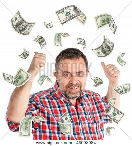 100 Dollar Bills Rain