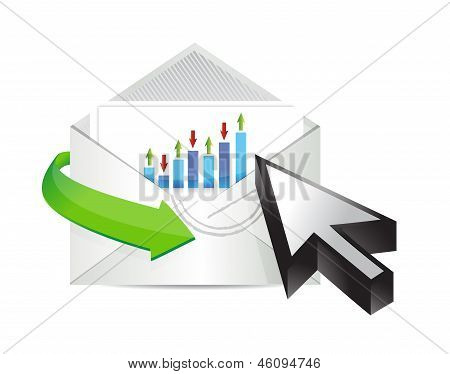 Business Email With An Inside Graph And Cursor