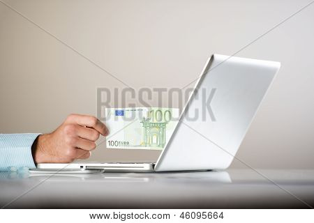business man with pc