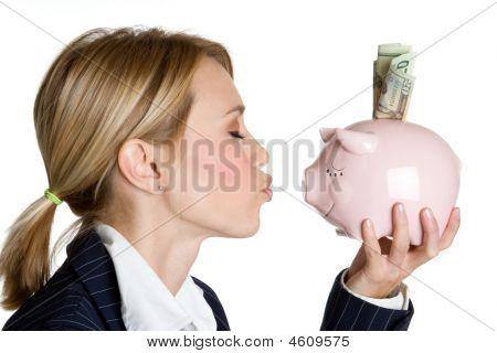 Piggy Bank Businesswoman