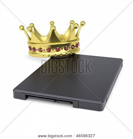 Solid-state drive with the crown