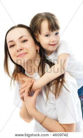 Mother And Daughetr Having Fun