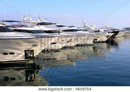 Yachts In A Marina
