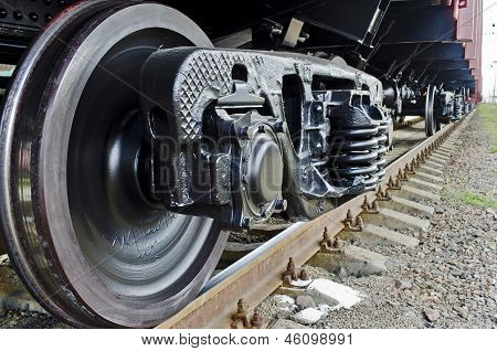 Wheels Of A Freight Train