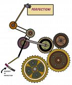 stock photo of pulley  - System of gears - JPG