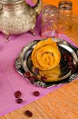 pic of halwa  - Chebakia a traditional Moroccan Ramadan flower shaped cookie - JPG
