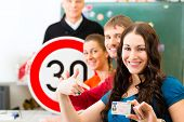 stock photo of driving  - Driving school  - JPG